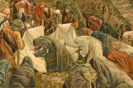 The Stone of Anointing. Illustration for The Life of Our Saviour Jesus Christ (Sampson Low, c 1897).