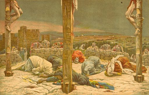 The Earthquake. Illustration for The Life of Our Saviour Jesus Christ (Sampson Low, c 1897).