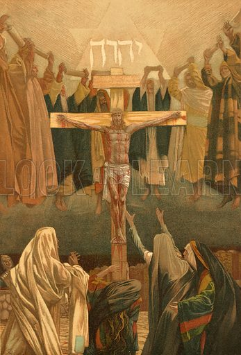 """""""It is Finished!"""" Illustration for The Life of Our Saviour Jesus Christ (Sampson Low, c 1897)."""