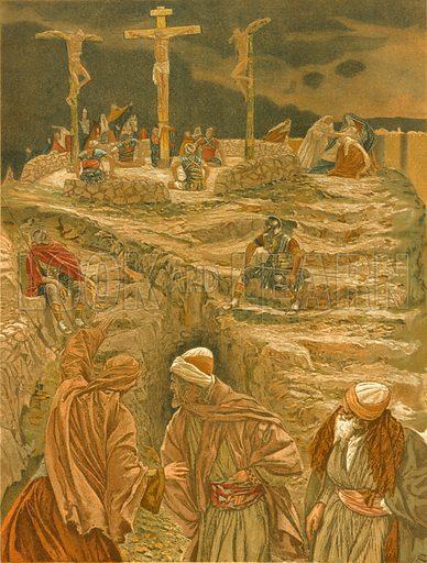 Eloi, Eloi, Lama Sabachthani! Illustration for The Life of Our Saviour Jesus Christ (Sampson Low, c 1897).