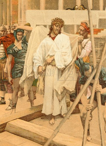 """""""And they put his own raiment on him."""" Illustration for The Life of Our Saviour Jesus Christ (Sampson Low, c 1897)."""