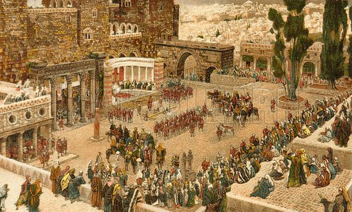 Bird's-Eye-View of the Forum. Illustration for The Life of Our Saviour Jesus Christ (Sampson Low, c 1897).