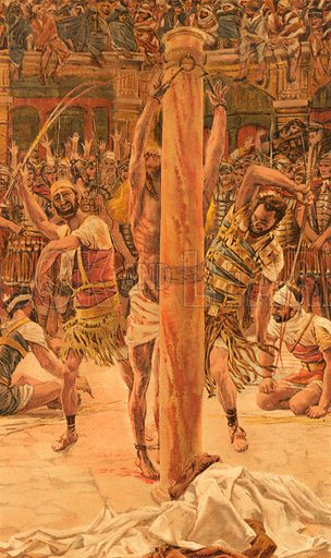 The Scourging of the Back. Illustration for The Life of Our Saviour Jesus Christ (Sampson Low, c 1897).