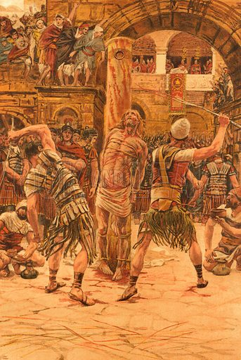 The Scourging of the Face. Illustration for The Life of Our Saviour Jesus Christ (Sampson Low, c 1897).