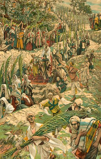 The Procession on the Mount of Olives. Illustration for The Life of Our Saviour Jesus Christ (Sampson Low, c 1897).
