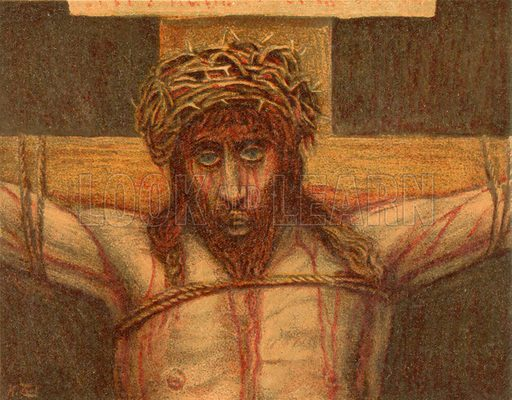 Christ on the cross. Illustration for The Life of Our Saviour Jesus Christ (Sampson Low, c 1897).