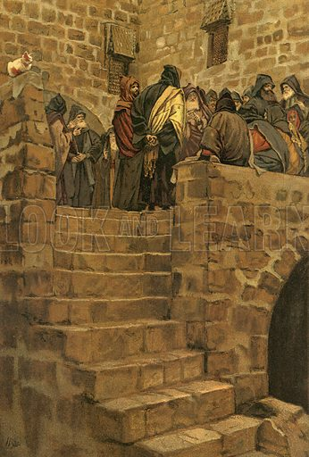 The Evil Counsel of Caiaphas. Illustration for The Life of Our Saviour Jesus Christ (Sampson Low, c 1897).