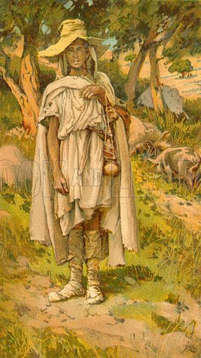 The Prodigal Son. Illustration for The Life of Our Saviour Jesus Christ (Sampson Low, c 1897).