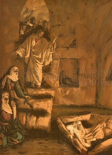 Resurrection of Lazarus. Illustration for The Life of Our Saviour Jesus Christ (Sampson Low, c 1897).