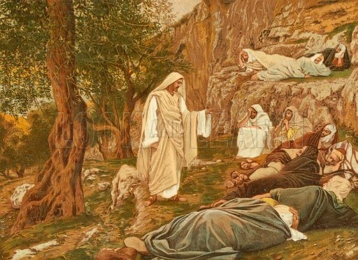 Jesus Commanding his Disciples to Rest. Illustration for The Life of Our Saviour Jesus Christ (Sampson Low, c 1897).