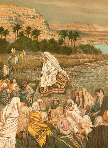 Jesus Teaching on the Sea Shore. Illustration for The Life of Our Saviour Jesus Christ (Sampson Low, c 1897).
