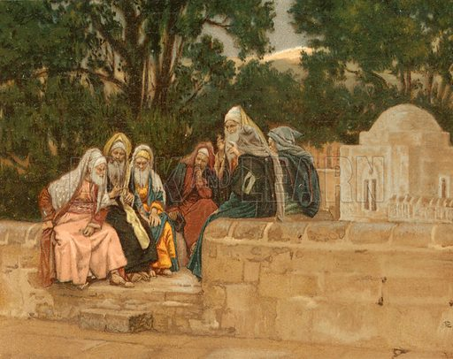 The Pharisees and the Herodians. Illustration for The Life of Our Saviour Jesus Christ (Sampson Low, c 1897).