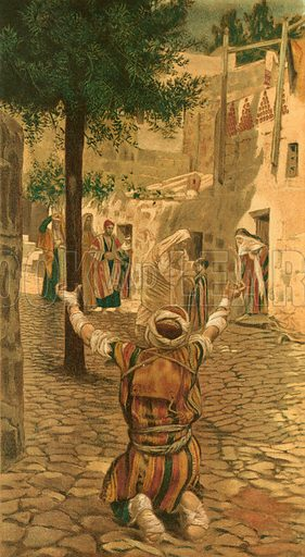 Healing of the Lepers at Capernaum. Illustration for The Life of Our Saviour Jesus Christ (Sampson Low, c 1897).