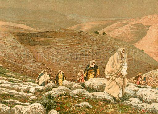 Jesus goes up to Jerusalem. Illustration for The Life of Our Saviour Jesus Christ (Sampson Low, c 1897).