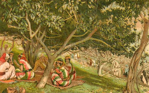Nathanael under the Fig Tree. Illustration for The Life of Our Saviour Jesus Christ (Sampson Low, c 1897).