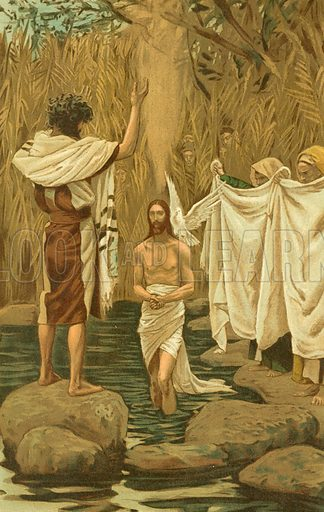 The Baptism of Jesus. Illustration for The Life of Our Saviour Jesus Christ (Sampson Low, c 1897).
