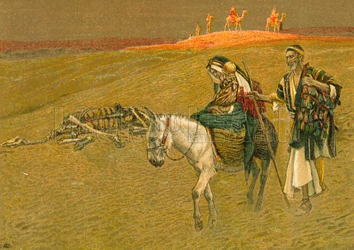 The Flight into Egypt. Illustration for The Life of Our Saviour Jesus Christ (Sampson Low, c 1897).