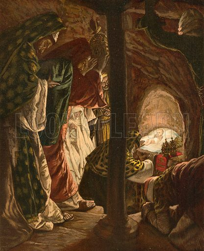 The Adoration of the Magi. Illustration for The Life of Our Saviour Jesus Christ (Sampson Low, c 1897).