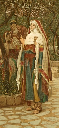 "The ""Magnificat"". Illustration for The Life of Our Saviour Jesus Christ (Sampson Low, c 1897)."