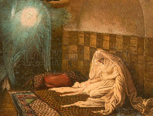 The Annunciation. Illustration for The Life of Our Saviour Jesus Christ (Sampson Low, c 1897).