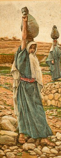 The Holy Virgin as a Girl. Illustration for The Life of Our Saviour Jesus Christ (Sampson Low, c 1897).