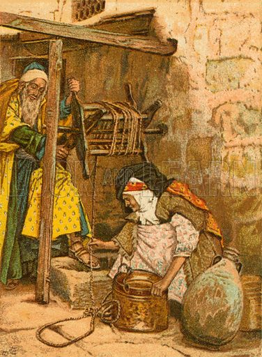 Zacharias and Elizabeth. Illustration for The Life of Our Saviour Jesus Christ (Sampson Low, c 1897).