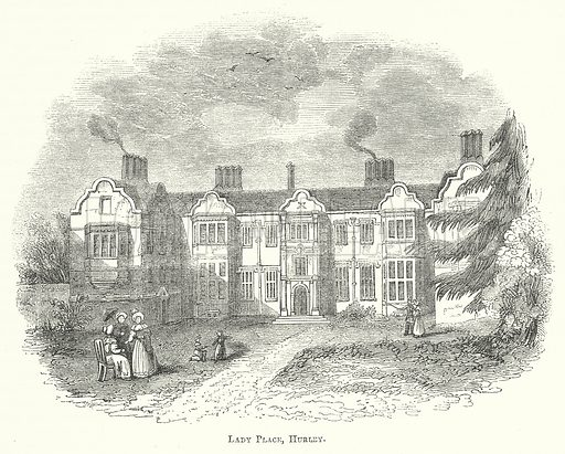 Lady Place, Hurley. Illustration for The Pictorial History of England (W & R Chambers, 1858).