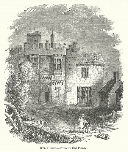 Rye House. Illustration for The Pictorial History of England (W & R Chambers, 1858).