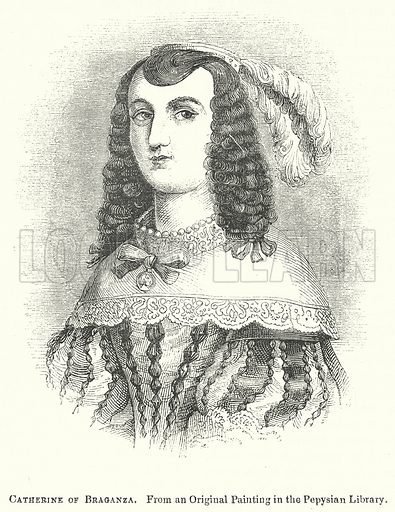 Catherine of Braganza. Illustration for The Pictorial History of England (W & R Chambers, 1858).