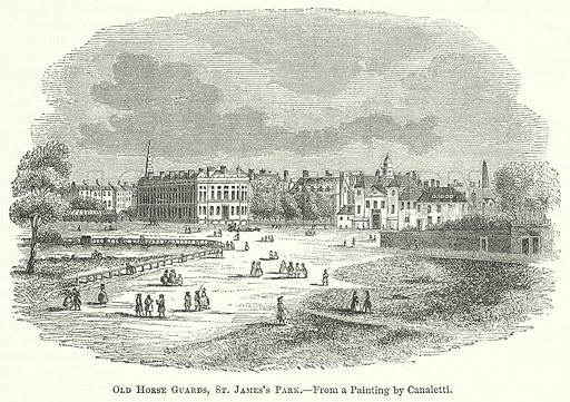 Old Horse Guards, St James's Park. Illustration for The Pictorial History of England (W & R Chambers, 1858).