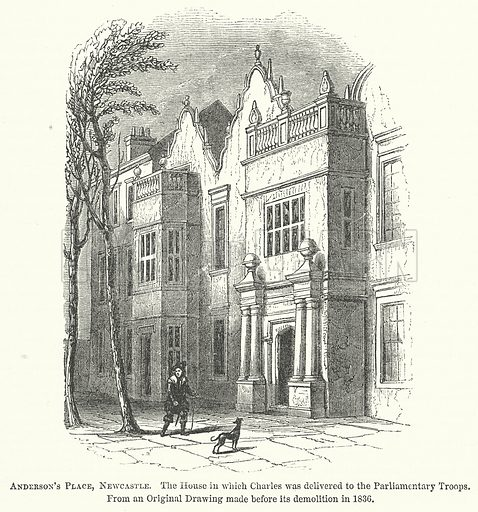 Anderson's Place, Newcastle. Illustration for The Pictorial History of England (W & R Chambers, 1858).