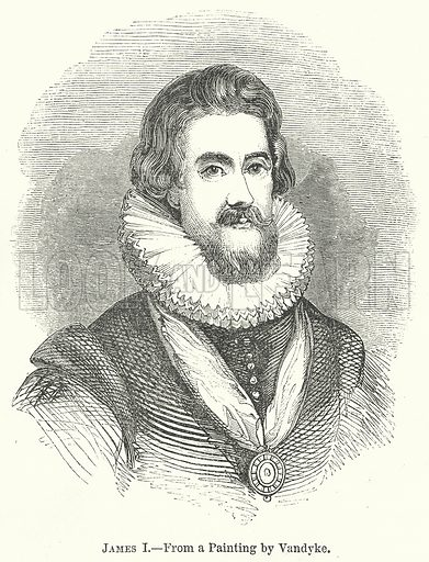 James I. Illustration for The Pictorial History of England (W & R Chambers, 1858).