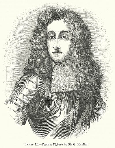 James II. Illustration for The Pictorial History of England (W & R Chambers, 1858).