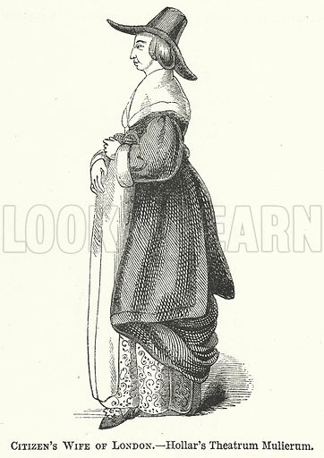 Citizen's Wife of London. Illustration for The Pictorial History of England (W & R Chambers, 1858).