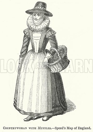 Countrywoman with Muffles. Illustration for The Pictorial History of England (W & R Chambers, 1858).