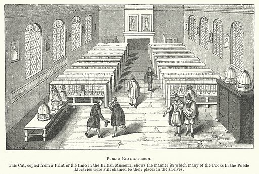 Public Reading-Room. Illustration for The Pictorial History of England (W & R Chambers, 1858).