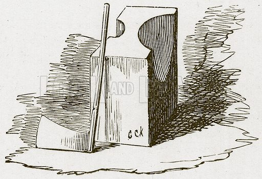 Axe and Block. Illustration for The Tower of London by William Harrison Ainsworth (George Routledge, c 1880).