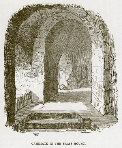 Casemate in the Brass Mount. Illustration for The Tower of London by William Harrison Ainsworth (George Routledge, c 1880).
