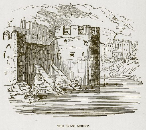 The Brass Mount. Illustration for The Tower of London by William Harrison Ainsworth (George Routledge, c 1880).