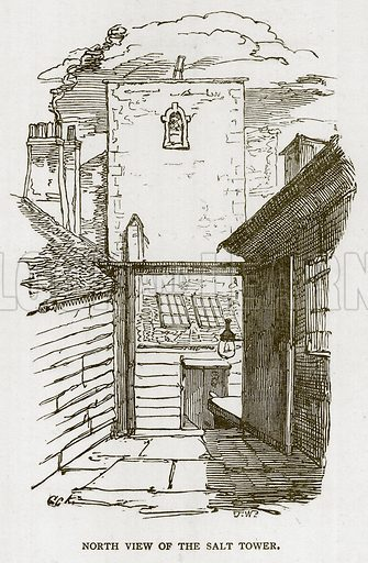 North View of the Salt Tower. Illustration for The Tower of London by William Harrison Ainsworth (George Routledge, c 1880).