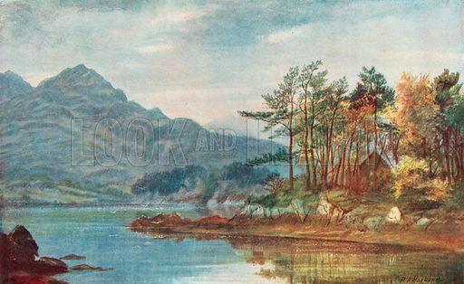Gougane-Barra. Illustration for Hutchinson's Britain Beautiful (c 1910).