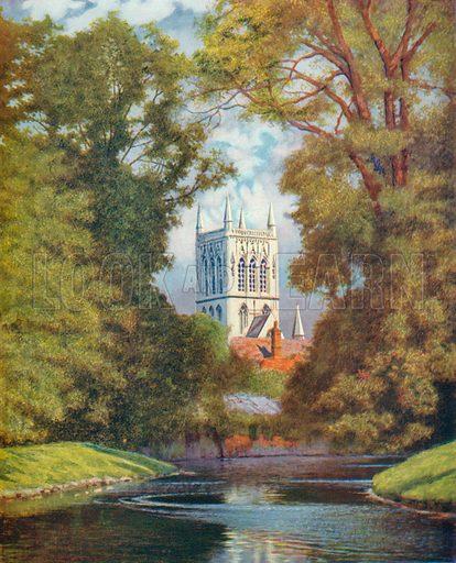 St John's College Chapel, Cambridge. Illustration for Hutchinson's Britain Beautiful (c 1910).