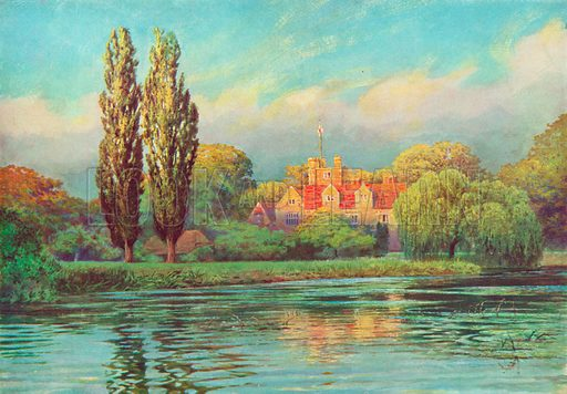 Bisham Abbey, Berkshire. Illustration for Hutchinson's Britain Beautiful (c 1910).