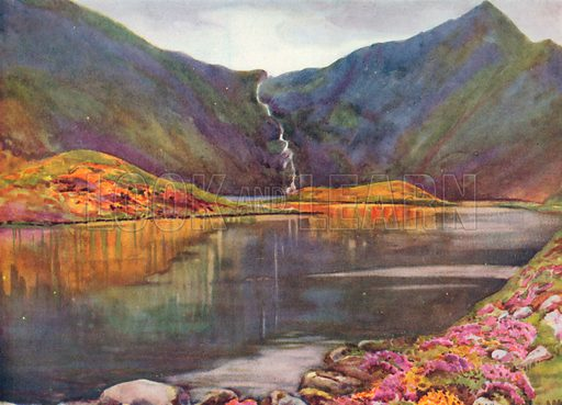 Lough Adoon, Co Kerry. Illustration for Hutchinson's Britain Beautiful (c 1910).