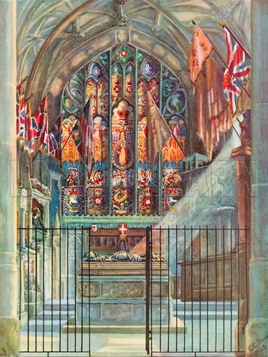 The Warriors' Chapel, Canterbury Cathedral. Illustration for Hutchinson's Britain Beautiful (c 1910).