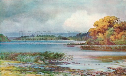 Lough Erne, Co Fermanagh. Illustration for Hutchinson's Britain Beautiful (c 1910).