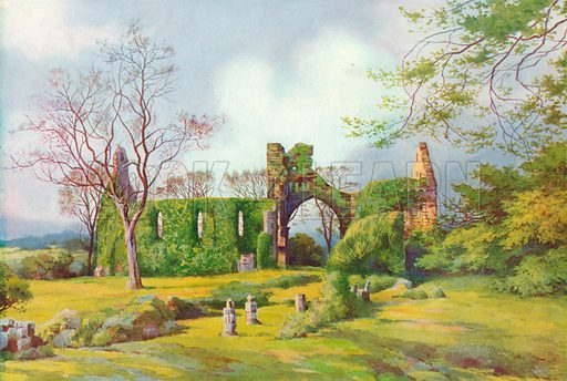 Grey Abbey. Illustration for Hutchinson's Britain Beautiful (c 1910).
