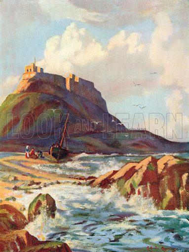 Lindisfarne, Northumberland. Illustration for Hutchinson's Britain Beautiful (c 1910).
