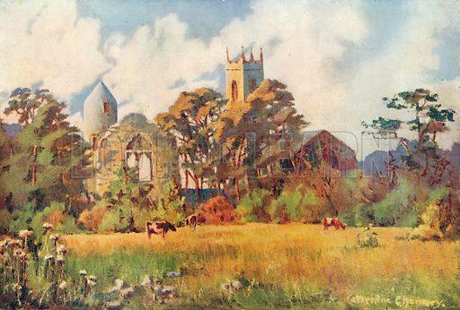 Dromiskin Church, Co Louth. Illustration for Hutchinson's Britain Beautiful (c 1910).
