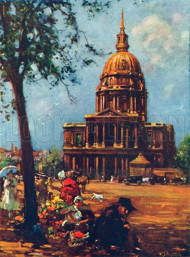 The Dome of the Invalides. Illustration for The Spendour of France (Hutchinson, c 1910).